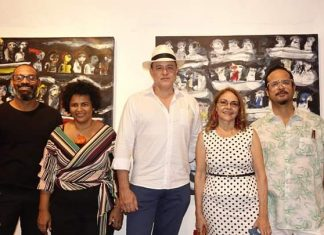 José Almonte, Iris Pérez, Ángel Urrely, Mildred Canahuate y José Levy.